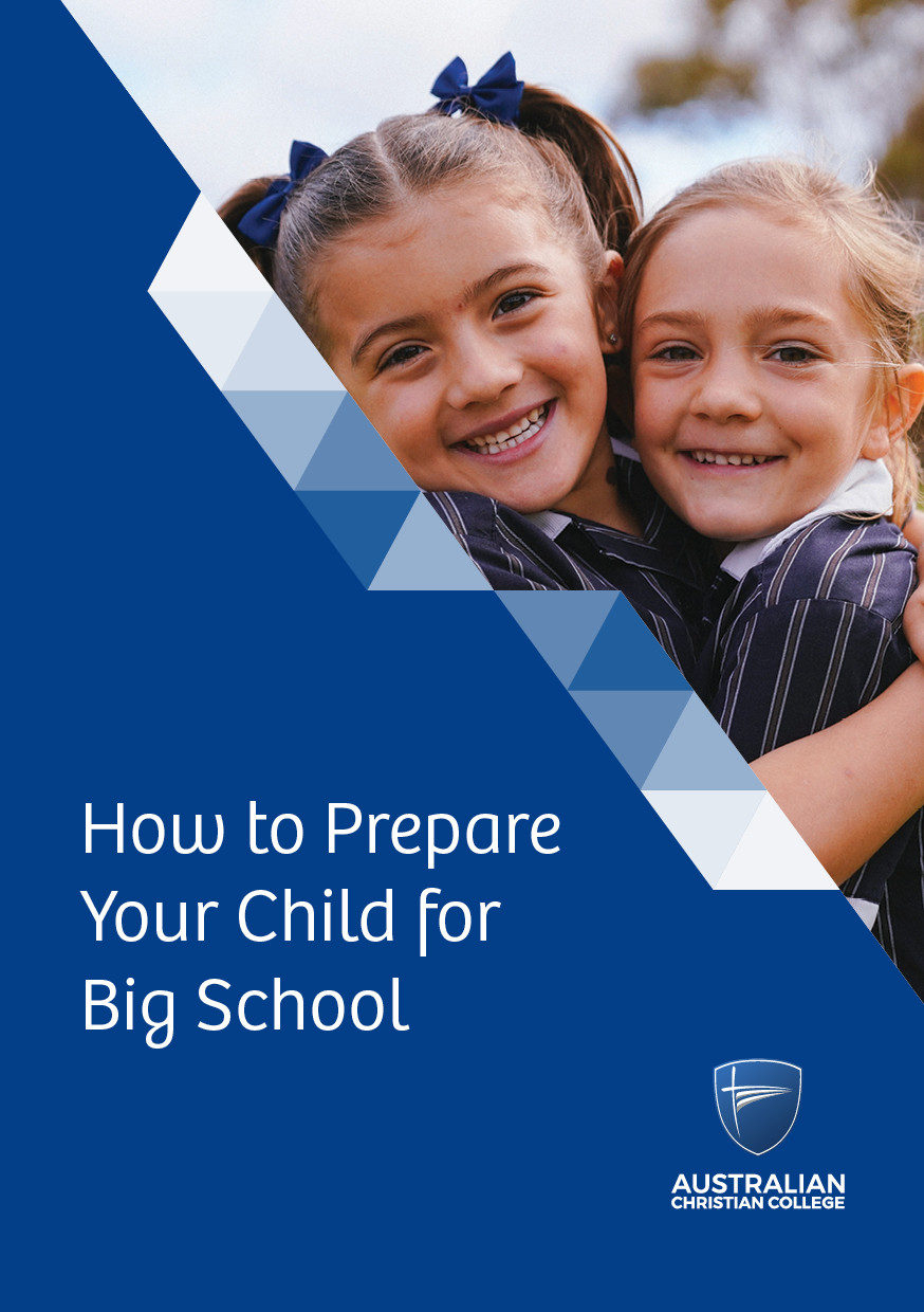 How to prepare your child for big school guide cover